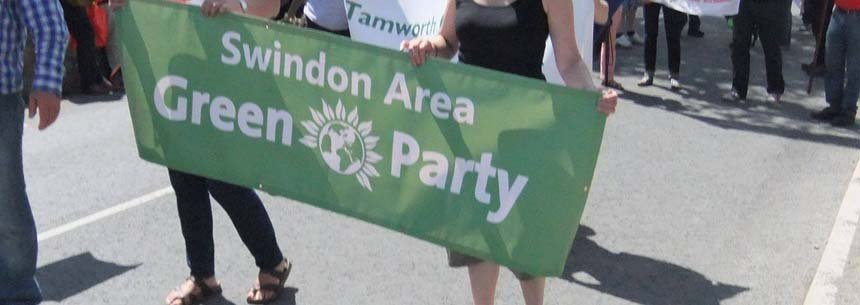 Swindon Area Green Party banner